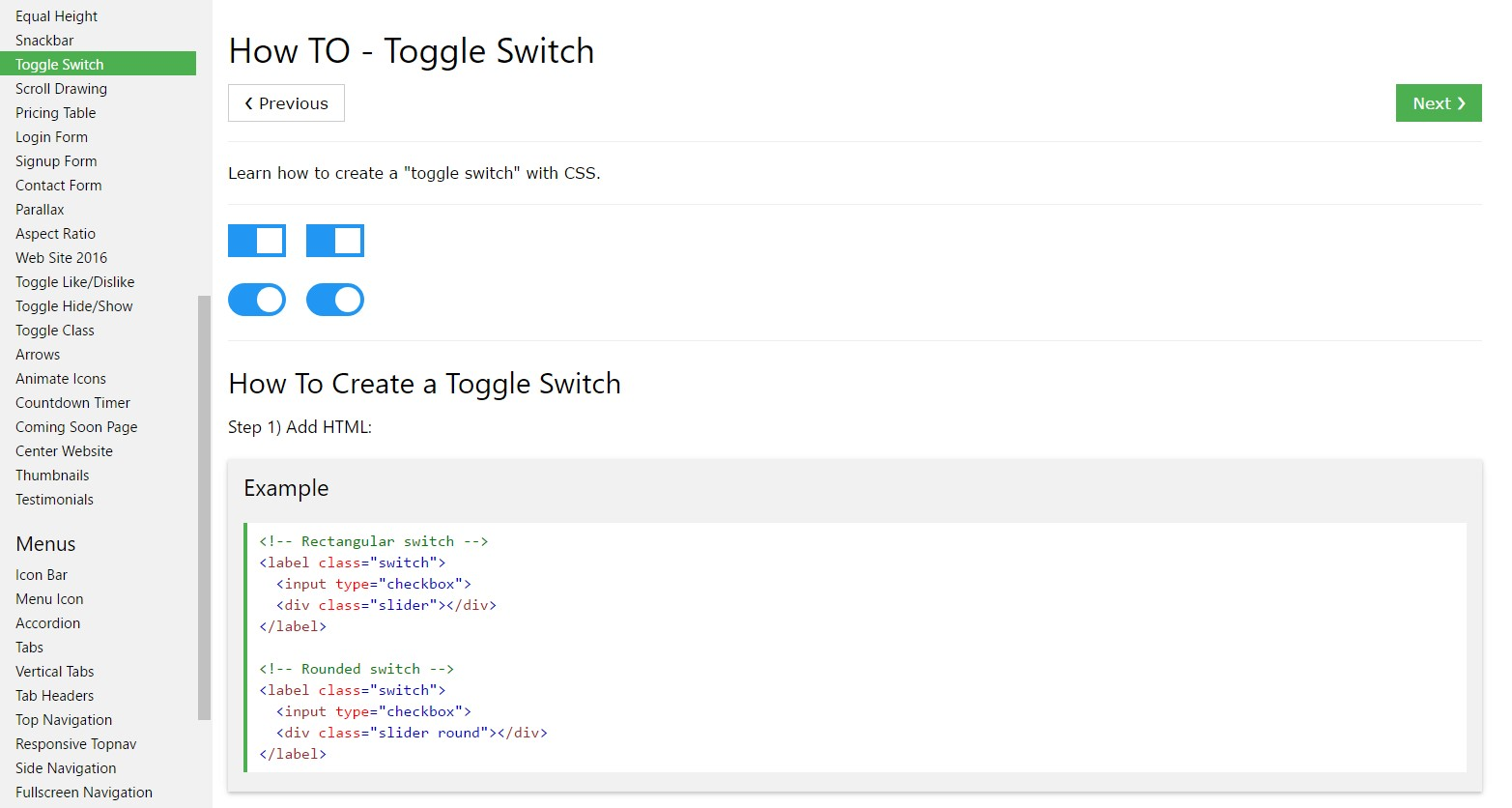 Effective ways to  develop Toggle Switch