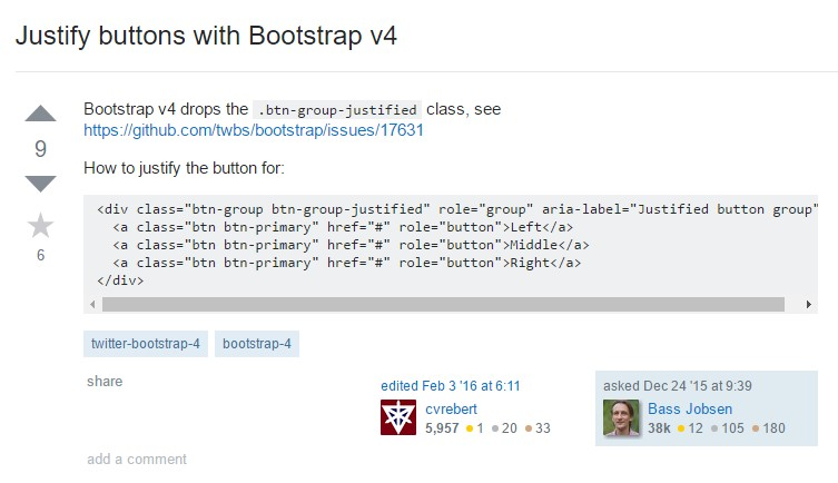 Support buttons  by using Bootstrap v4