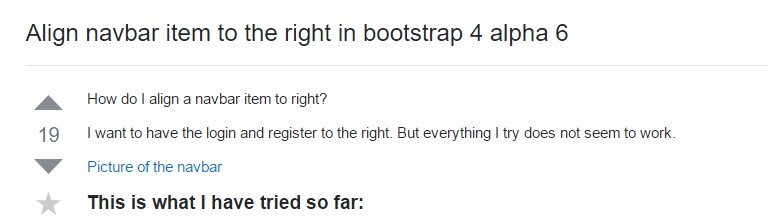 Regulate navbar  object to the right  within Bootstrap 4 alpha 6