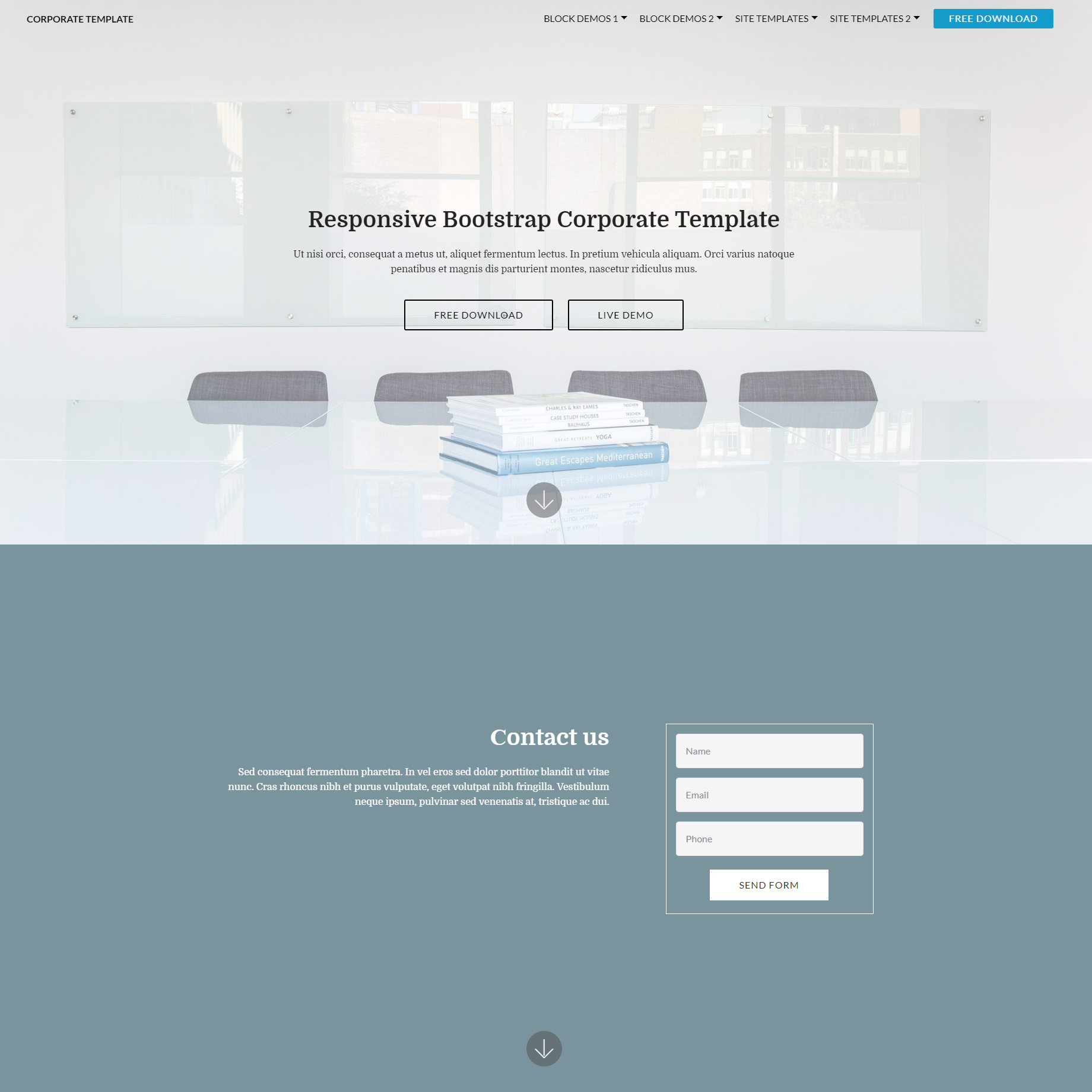 CSS3 Bootstrap Corporate Templates
