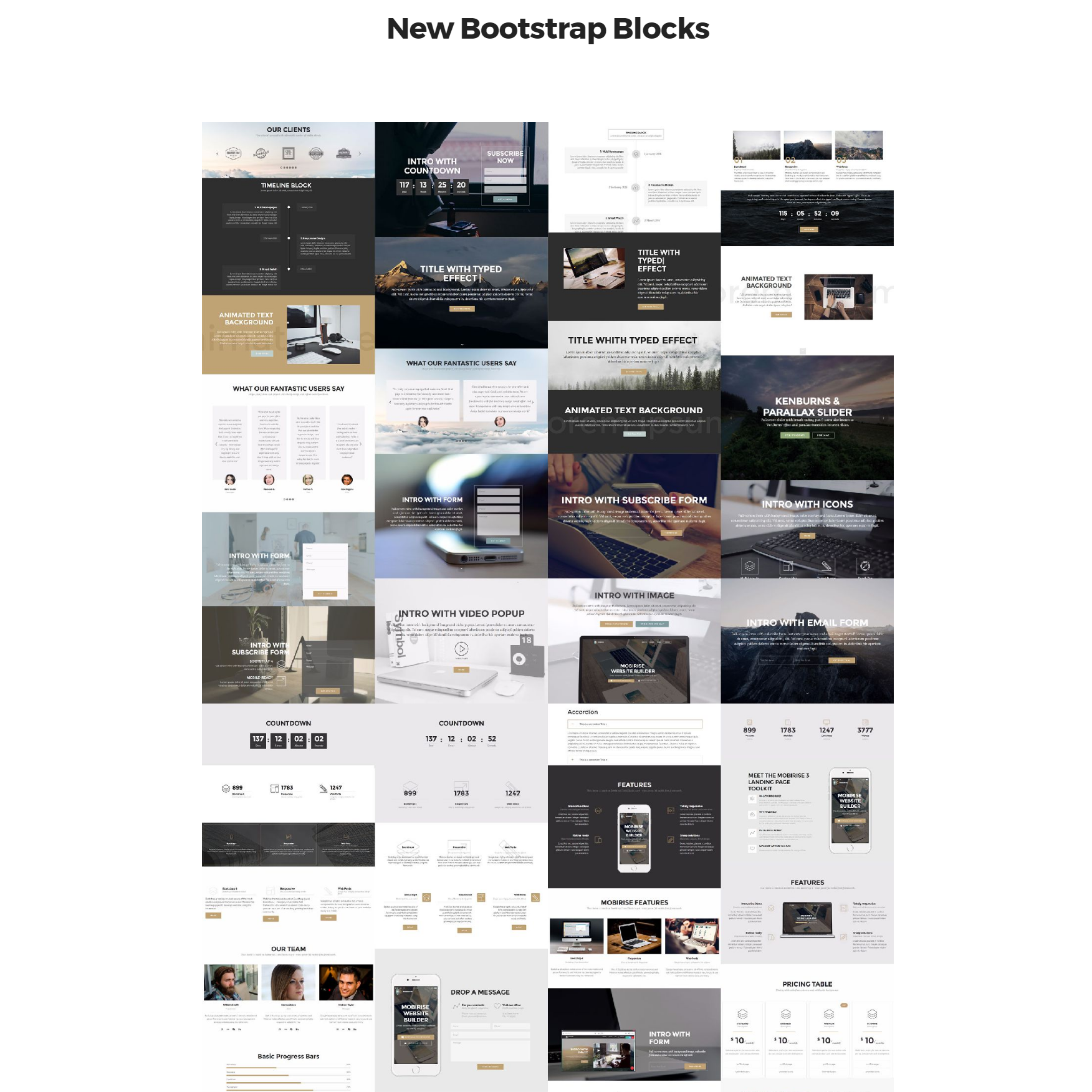 Free Download Bootstrap 4 mobile-friendly blocks Templates