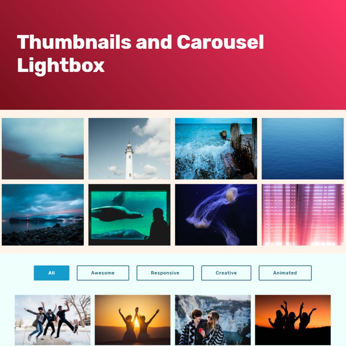 Mobile Bootstrap Illustration Carousel